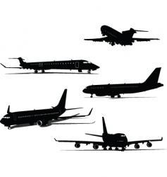 five planes vector image vector image