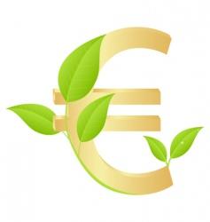 gold euro vector image
