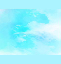 Hand painted watercolor sky and clouds abstract vector