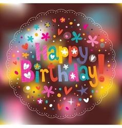 Happy Birthday 5 vector image
