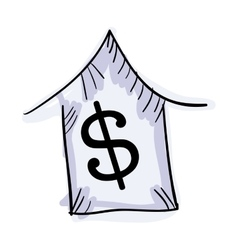 House with money symbol vector