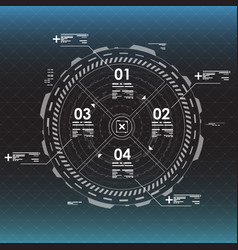 info graphic elements futuristic user interface vector image vector image