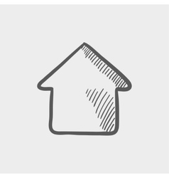Interior sketch icon vector