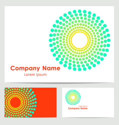 Logo design business card template vector