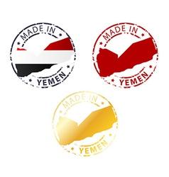 Made in yemen stamp vector