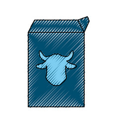 milk carton cow vector image