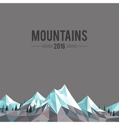 Mountain top vector