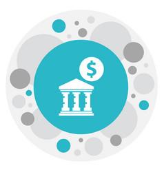 Of financial symbol on academy vector