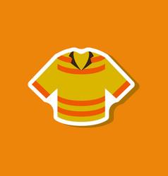 Paper sticker fashion clothes t-shirt vector