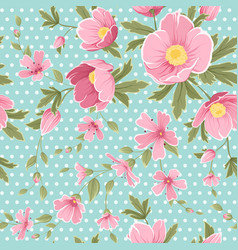pink hellebore gypshophila floral seamless pattern vector image