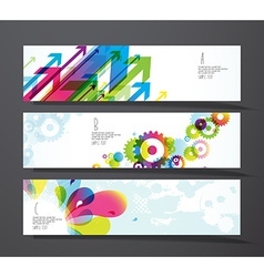 Set of abstract colorful splash toothed wheels and vector