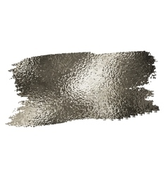 Silver texture paint stain vector