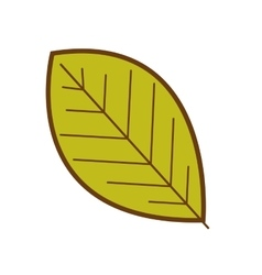 Simple leaf icon image vector