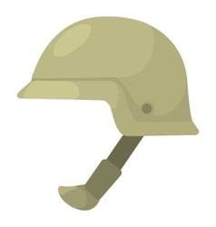 Soldier helmet icon cartoon style vector
