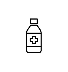 sypup bottle icon on white background vector image vector image