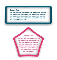 Text box vector image