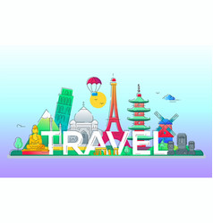travel - line travel vector image vector image