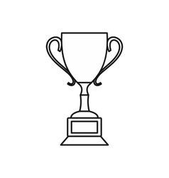 Trophy cup icon outline style vector image vector image