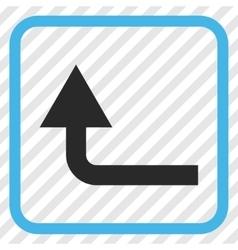 Turn forward icon in a frame vector