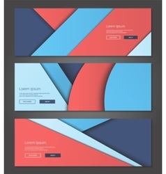 Unusual modern material design backgrounds banners vector image