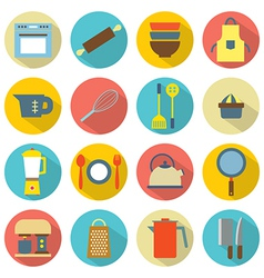 Utensils Icons set 16 vector image vector image