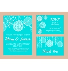 white lace baubles vector image vector image