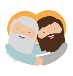 jesuschrist character isolated icon vector image