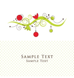 Floral Pattern Card vector image