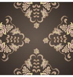 Ornamental round vintage pattern vector