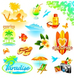Tropical resort travel   vector