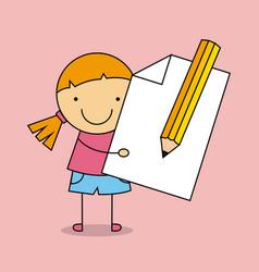 School supplies characters design vector