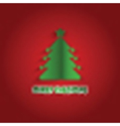 christmas tree background 1911 vector image
