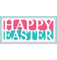 Happy easter banner vector