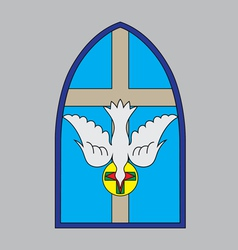 Holyspirit window vector