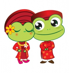 frogs wedding vector image