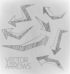 Design arrow of drawing vector
