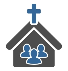 Church icon from business bicolor set vector