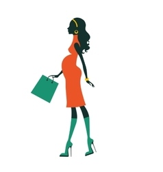 Chic pregnancy shopping vector