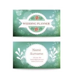 Creative mint business card template mock vector