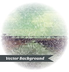 Abstract Background pattern triangle bird vector image