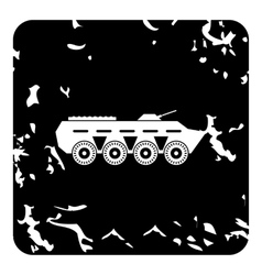 Armored fighting vehicle icon grunge style vector