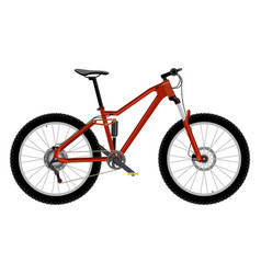 bike isolated on white vector image vector image
