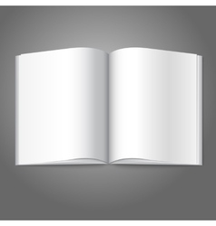 Blank white opened book magazine or photo album vector