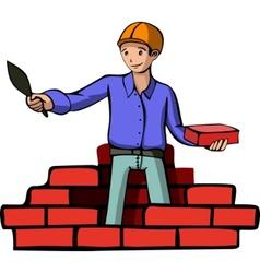 brick builder vector image vector image