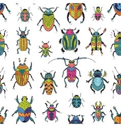 Bugs seamless pattern vector image