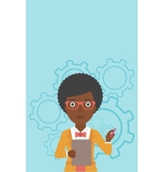 Business woman with pencil vector
