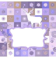 Christmas Invitation card template EPS 8 vector image