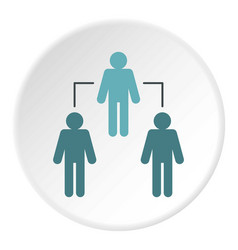 Group of people icon circle vector