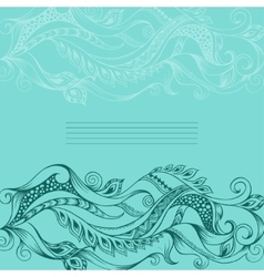 Hand drawn outline abstract background vector image vector image