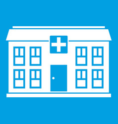 Hospital icon white vector
